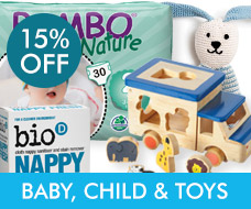 15% off Baby, Child & Toys
