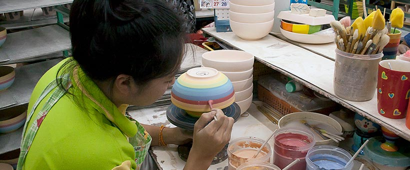 Shared Earth Hand Painted Rainbow Kitchenware