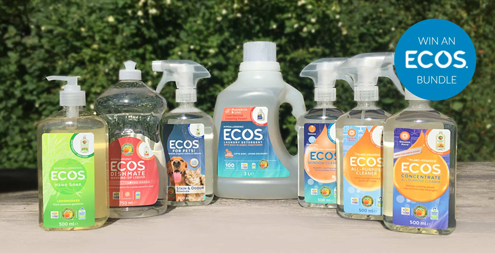 Win an ECOS Cleaning Bundle