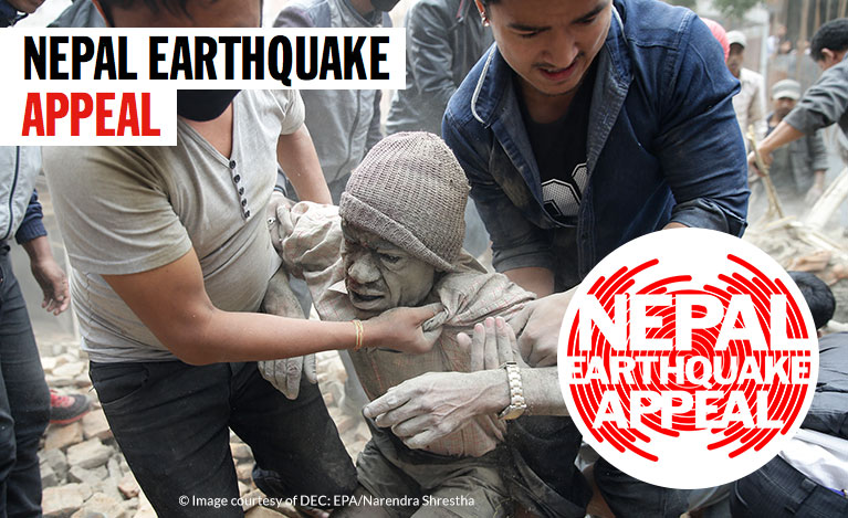 Nepal Earthquake Appeal - donate to the Disasters Emergency Committee