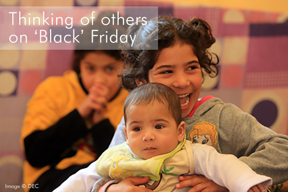 It's not all black out there - thinking of others on 'Black' Friday