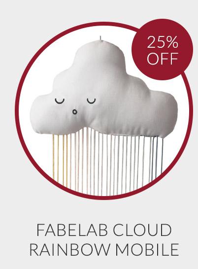 Fabelab Rainbow Cloud Mobile - 25% off*