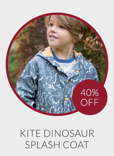Kite Dinosaur Print Splash Coat - 40% off*
