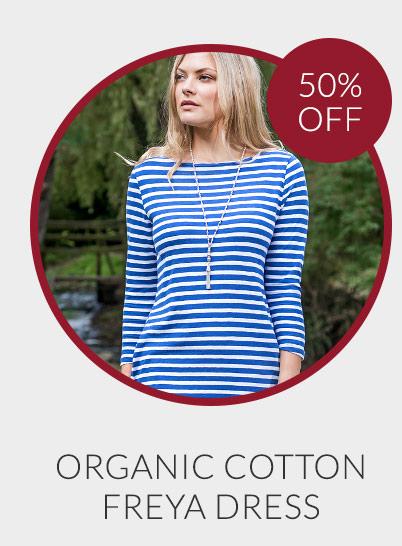 Organic Cotton Striped Freya Dress - 50% off*