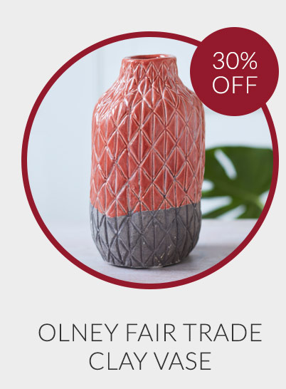 Olney Fair Trade Clay Vase - 30% off*