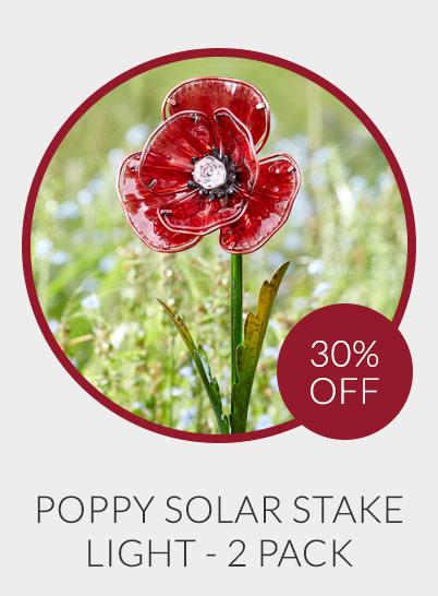 Solar Powered Poppy Light - Pack of 2 - 30% off*