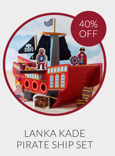 Lanka Kade Fair Trade Pirate Ship Set - 40% off*