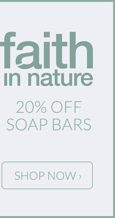 Faith in Nature - 20% off soap bars*