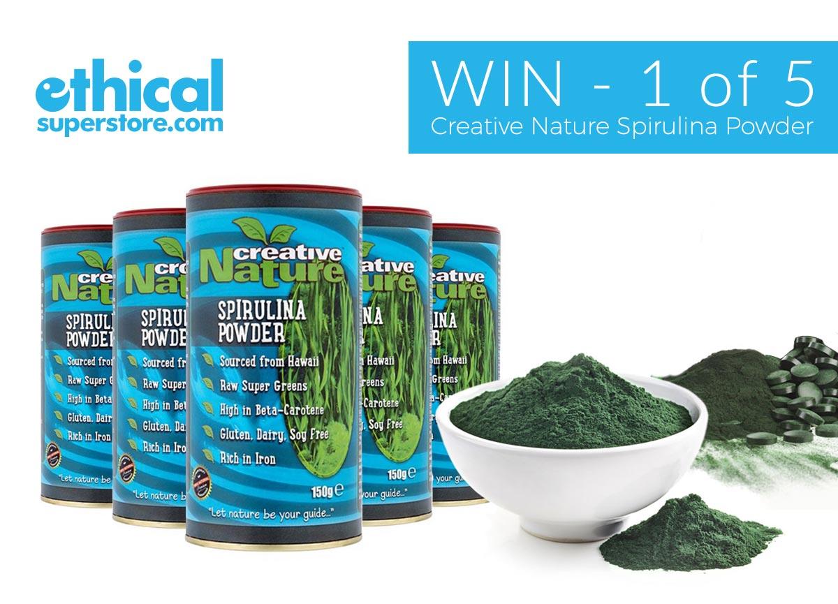 Win one of five Creative Nature Spirulina Powders