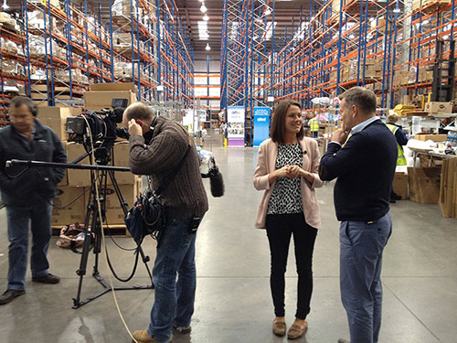 Ethical Superstore and Spark Etail group staff with the TV crew from Good Morning Britain!