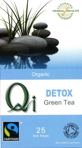 Qi Organic Fairtrade Detox Green Tea - 25 Bags
