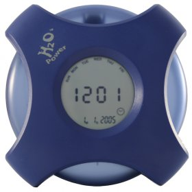 H2O Multifunction Clock - Replaceable Water Battery - TimeAlarm