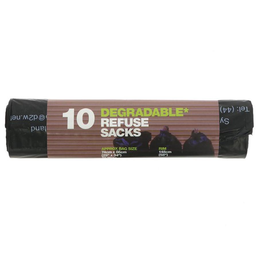 d2w Degradable Refuse Sacks - 70L - Roll of 10