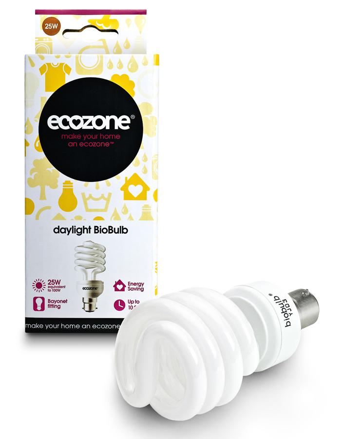 Ecozone Bayonet Cap Daylight Biobulb - 25 Watt - 100W Equivalent