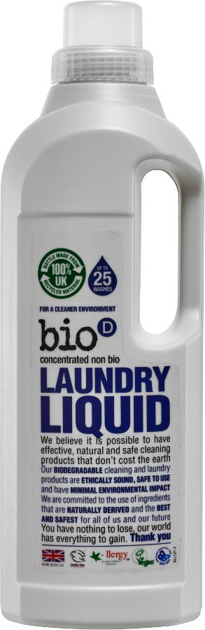 Bio D Concentrated Non-Bio Laundry Liquid - 1L - 25 Washes