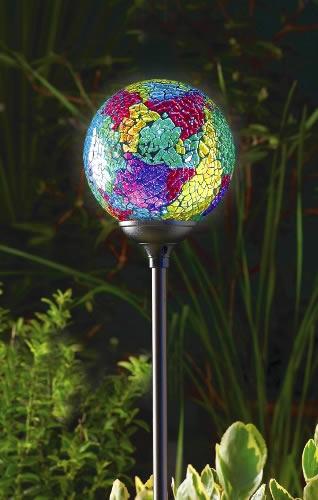 Garden Globe Lights Solar : Solar powered garden globe light murano terra