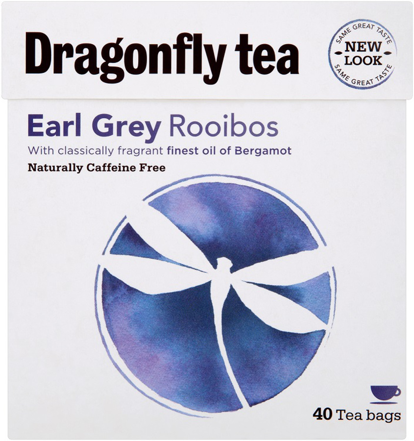 Dragonfly Rooibos Earl Grey Tea  Naturally Caffeine Free  40 Bags