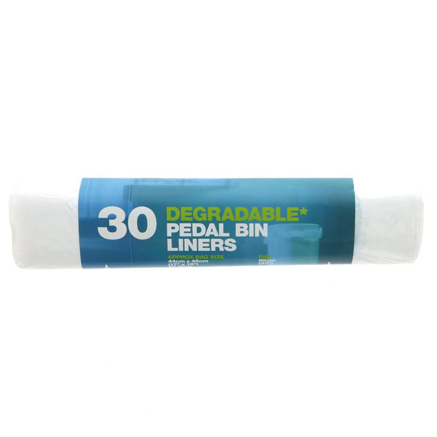 d2w Degradable Pedal Bin Liners - 20L - Roll of 30