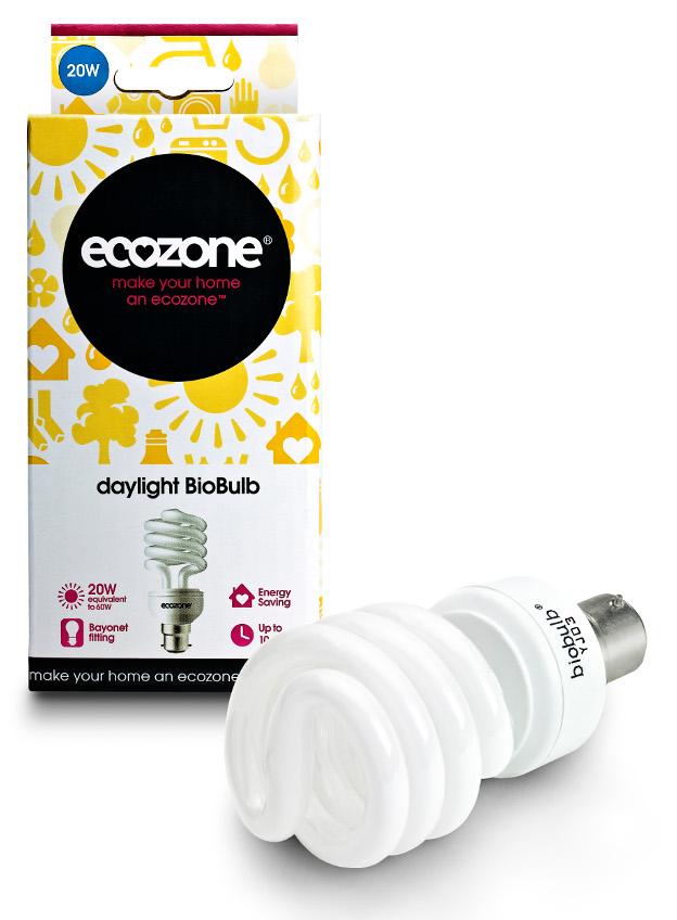 Ecozone Bayonet Cap Daylight Biobulb - 20 Watt - 60W Equivalent