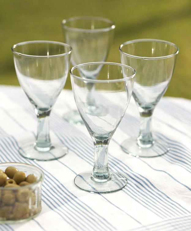 Traidcraft Recycled Wine Glasses 4 Ethical Superstore