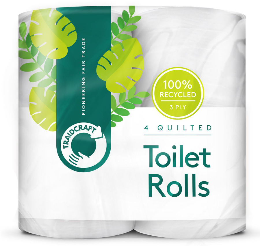 Traidcraft Recycled Toilet Roll Pack Of 4 Traidcraft