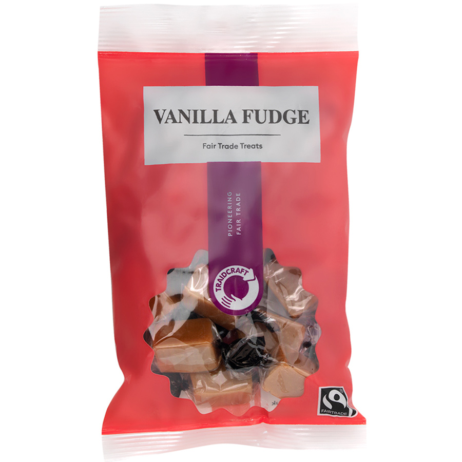 Traidcraft Fairtrade Vanilla Fudge - 150g