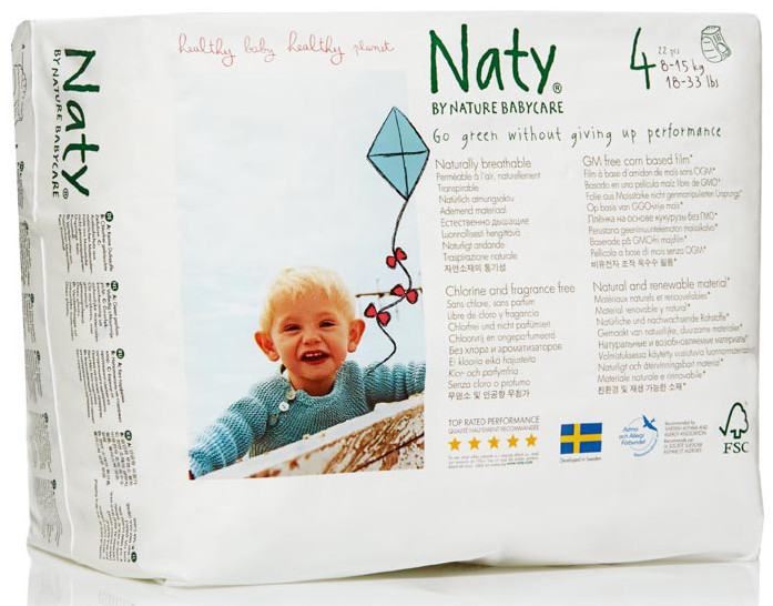 Image of Naty by Nature Babycare Pull On Disposable Pants - Maxi/Maxi Plus - Size 4 - Pack of 22