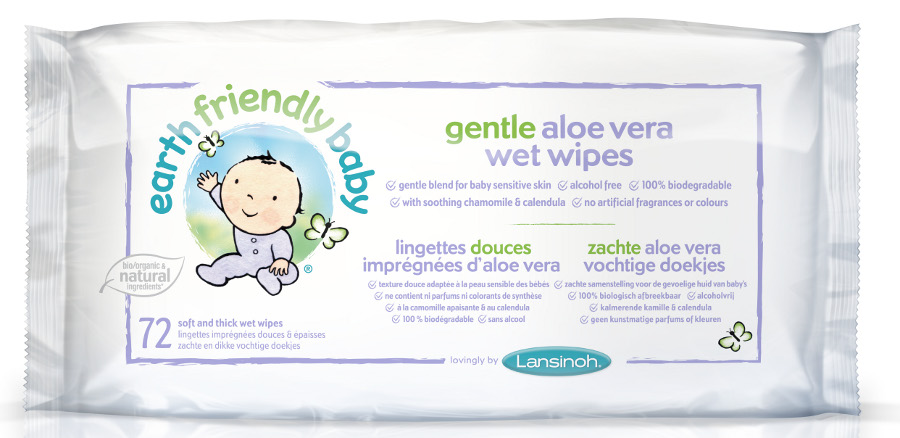 Earth Friendly Gentle Aloe Vera Eco Baby Wipes Pack Of