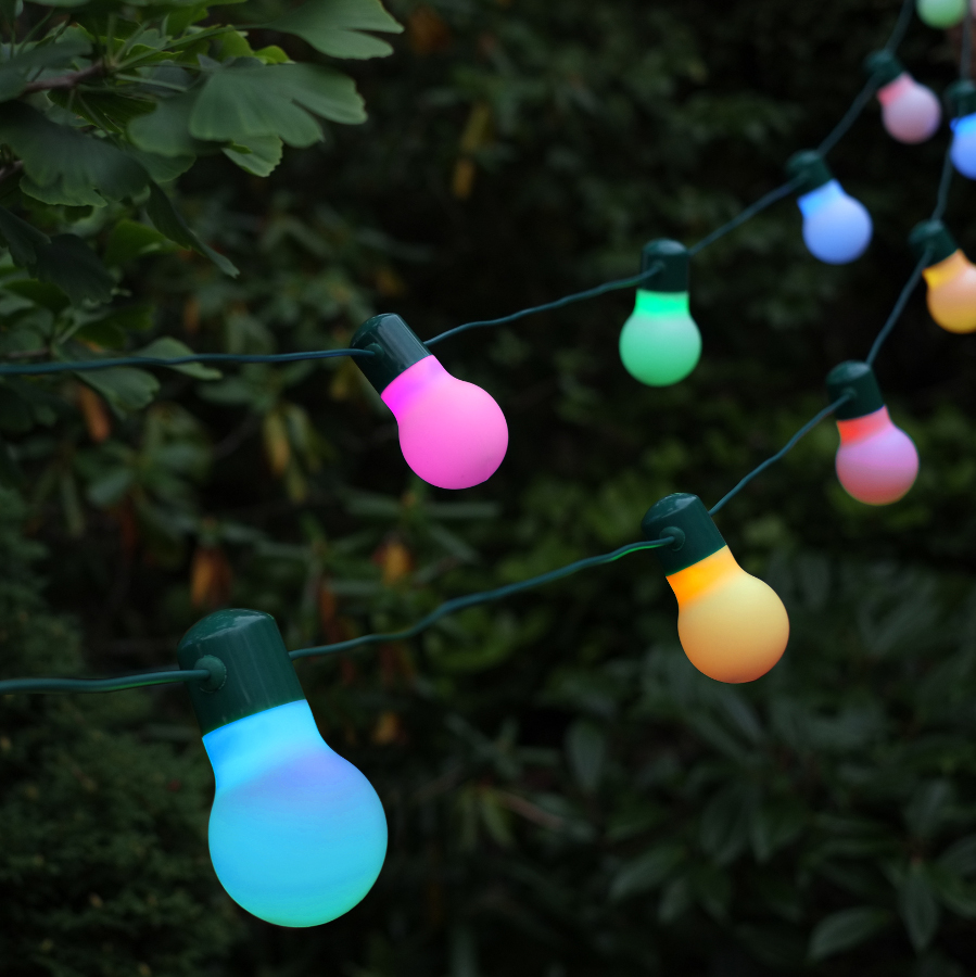 Guinness Party String Lights : Smart Solar Colour Changing Party Lights - Pack of 20 - Smart Garden