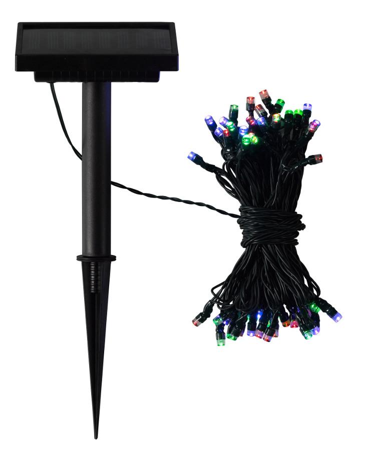 Solar Powered Coloured LED String Lights - 50 - Smart Garden