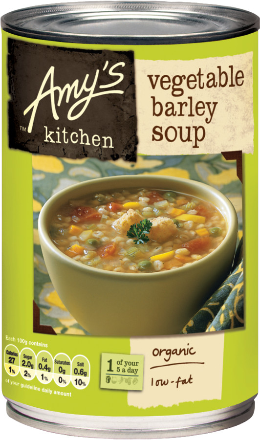 Awesome Pack Of 2 Amys Kitchen Vegetable Barley Soup 400G Interior Design Ideas Inamawefileorg
