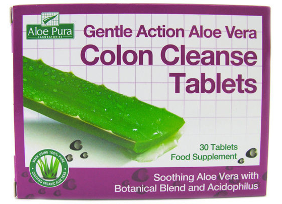 Aloe Pura Gentle Action Aloe Vera Colon Cleanse Tablets - 60 tablets