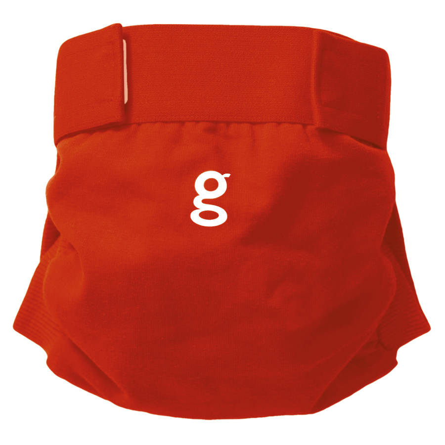 Image of gNappies Good Fortune Red Nappy Cover