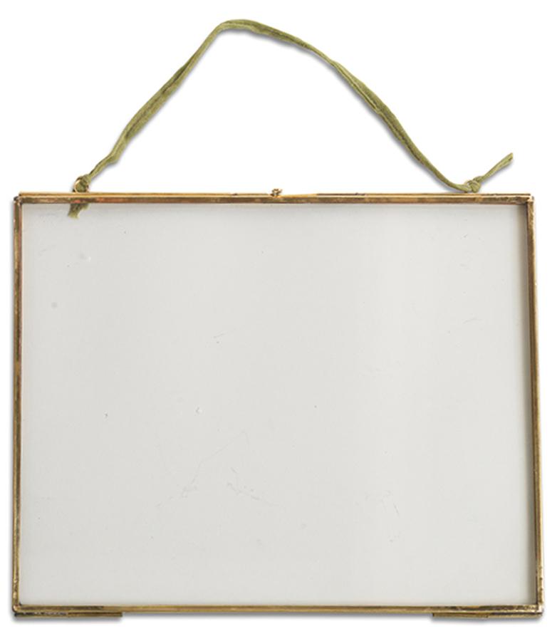 """Kiko Glass Brass Frame - 5x7 - Landscape"""""""