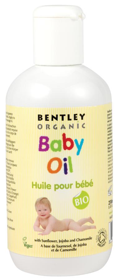 Image of Bentley Organic Organic Baby Oil with Sunflower Jojoba & Chamomile - 250ml