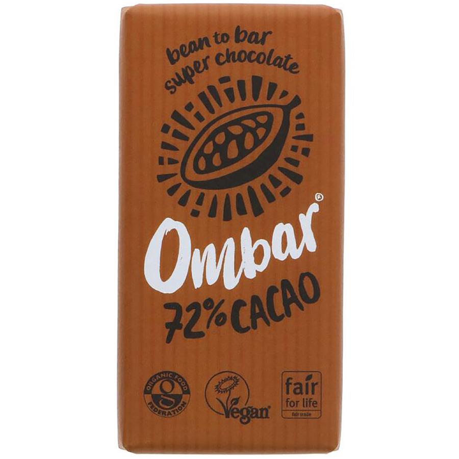 Ombar 72% Raw Cacao Chocolate - 35g
