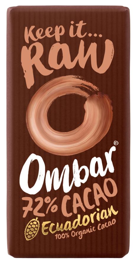 Ombar Raw Chocolate 72% Raw Cacao - 35g