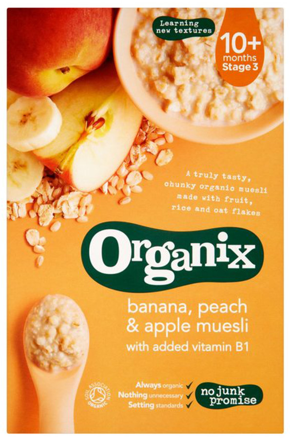 Organix Banana Peach & Apple Muesli - 200g