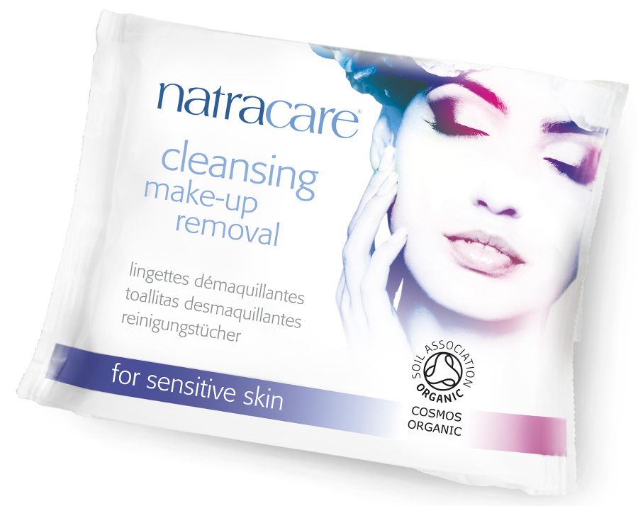 Natracare Organic Cleansing Make-up Removal Wipes - Pack of 20
