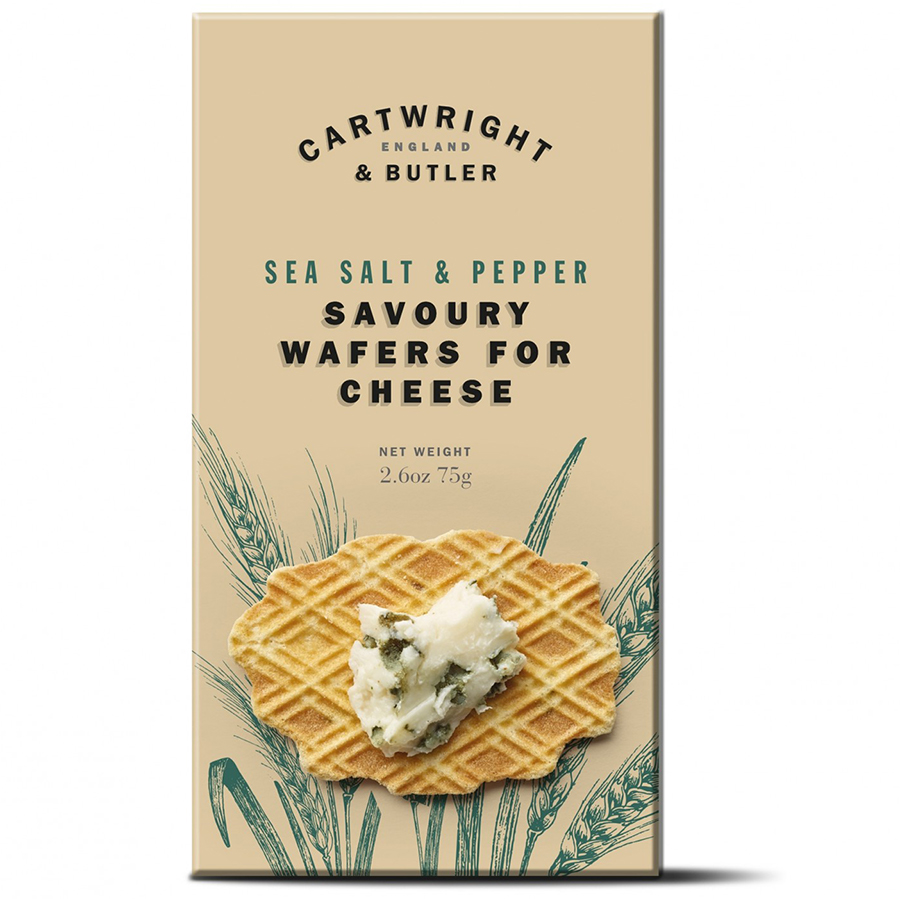 Cartwright & Butler Wafers for Cheese with Sea Salt & Black Pepper - 75g