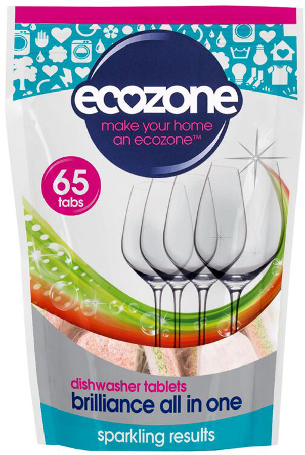 Ecozone Brilliance All in One Dishwasher Tablets - 65