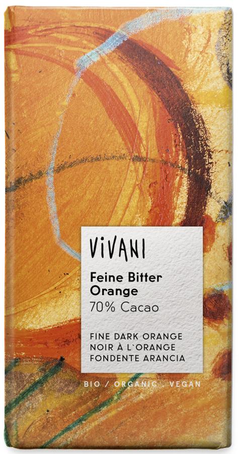 Vivani Organic Dark Chocolate & Orange - 100g