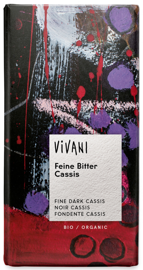 Vivani Organic Dark Chocolate & Cassis Filling - 100g