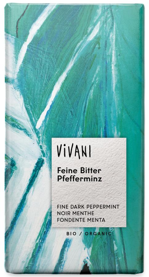 Vivani Organic Dark Chocolate & Peppermint Filling - 100g