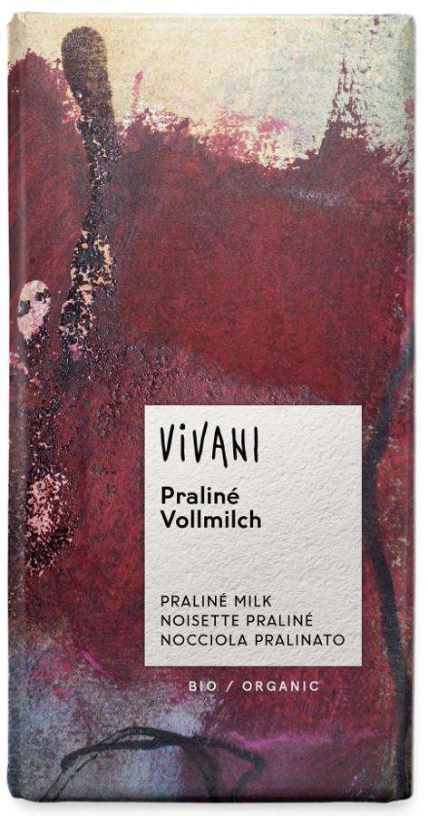 Vivani Organic Milk Chocolate & Praline Filling - 100g
