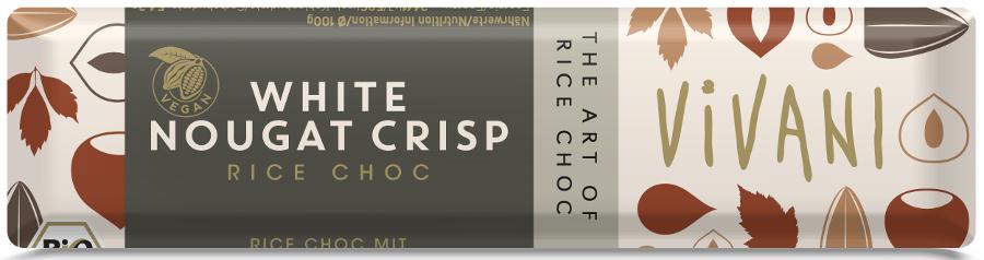 Vivani Organic White Chocolate Nougat Crisp - 35g