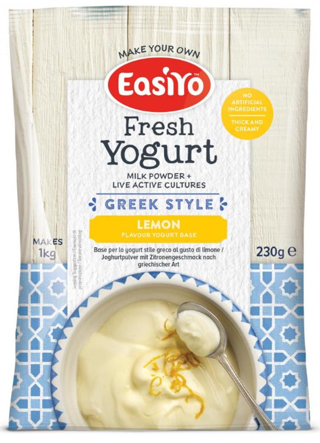 EasiYo Greek Style Lemon Yoghurt - 230g