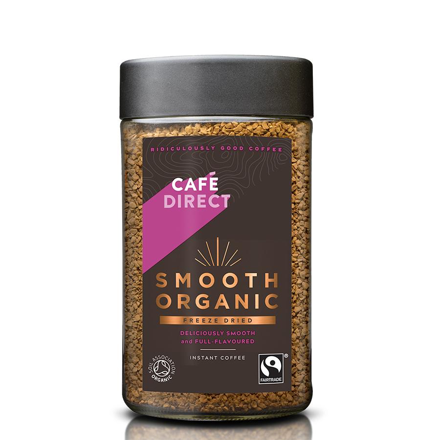 Cafédirect Fair Trade Organics Smooth Instant Coffee - 100g