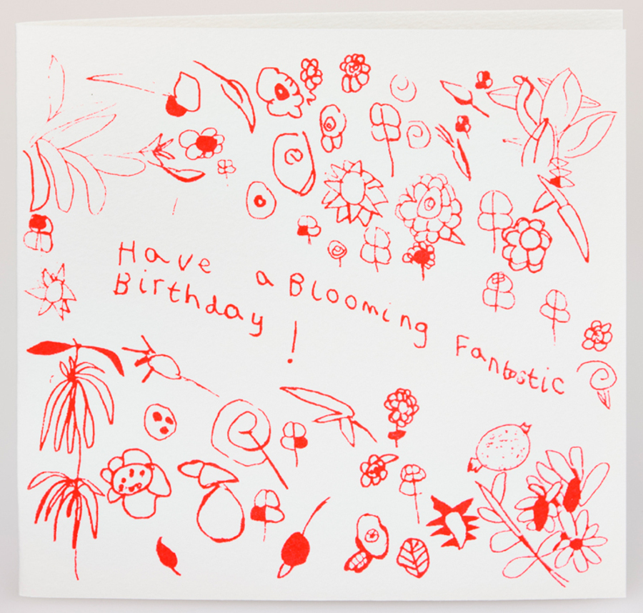 Image of Arthouse Meath Charity Blooming Fantastic Birthday Card