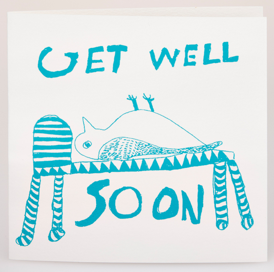 Image of Arthouse Meath Charity Get Well Soon Owl Card